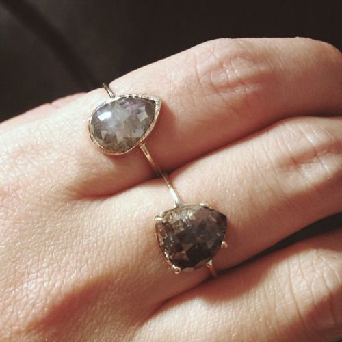 Raw Grey Diamond Engagement Rings Vale Jewelry EDITORIAL Pinterest
