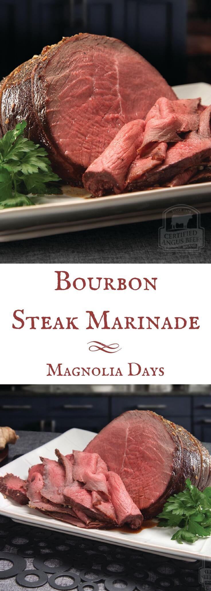 Bourbon Steak Marinade #marinadeforbeef