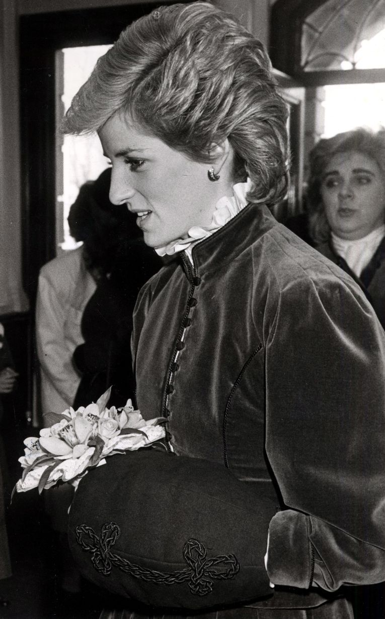 On another visit in 1985, this time to St David's Hall in Cardiff where she attended a concert in aid of the Order of St. John Opthalmic Hospital, Jerusalem