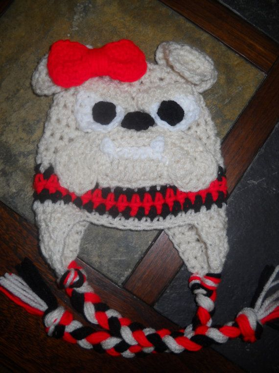0c5a5dd3b0c Georgia Bulldog Crochet Hat with Earflaps