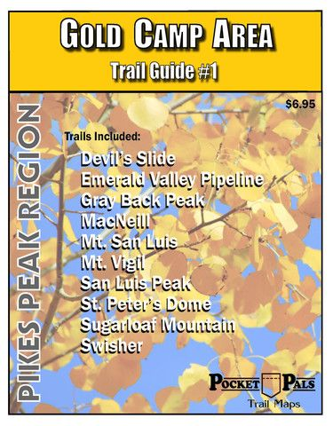 Trail Map 1 Gold Camp Area Colorado Trail Maps Trail Maps - Pikes-peak-on-us-map