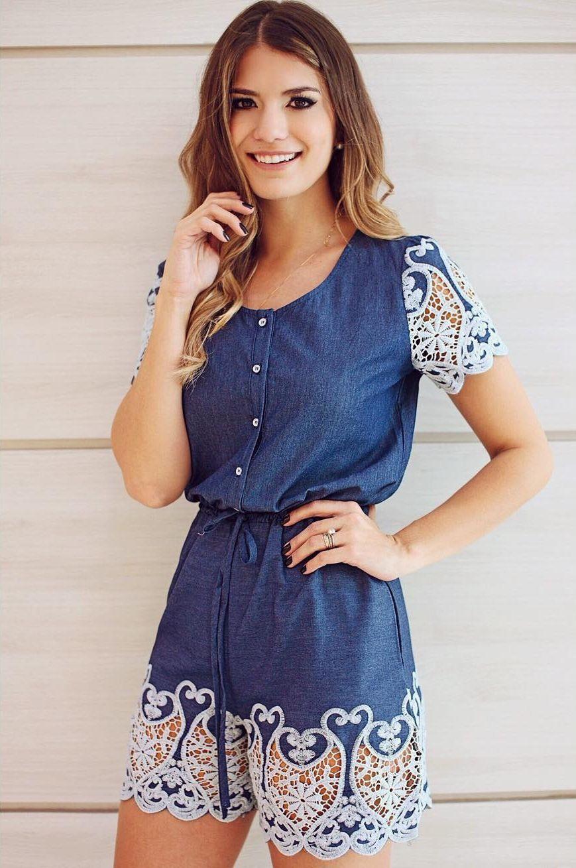6dec3ff9079c12 Macaquinho jeans: a peça coringa para looks estilosos e confortáveis ...