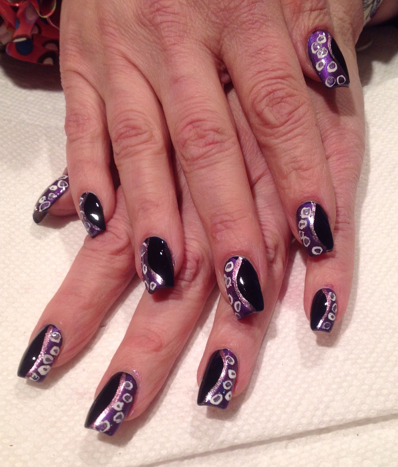 Ursula nails - The Little Mermaid | Nails by Traci | Pinterest