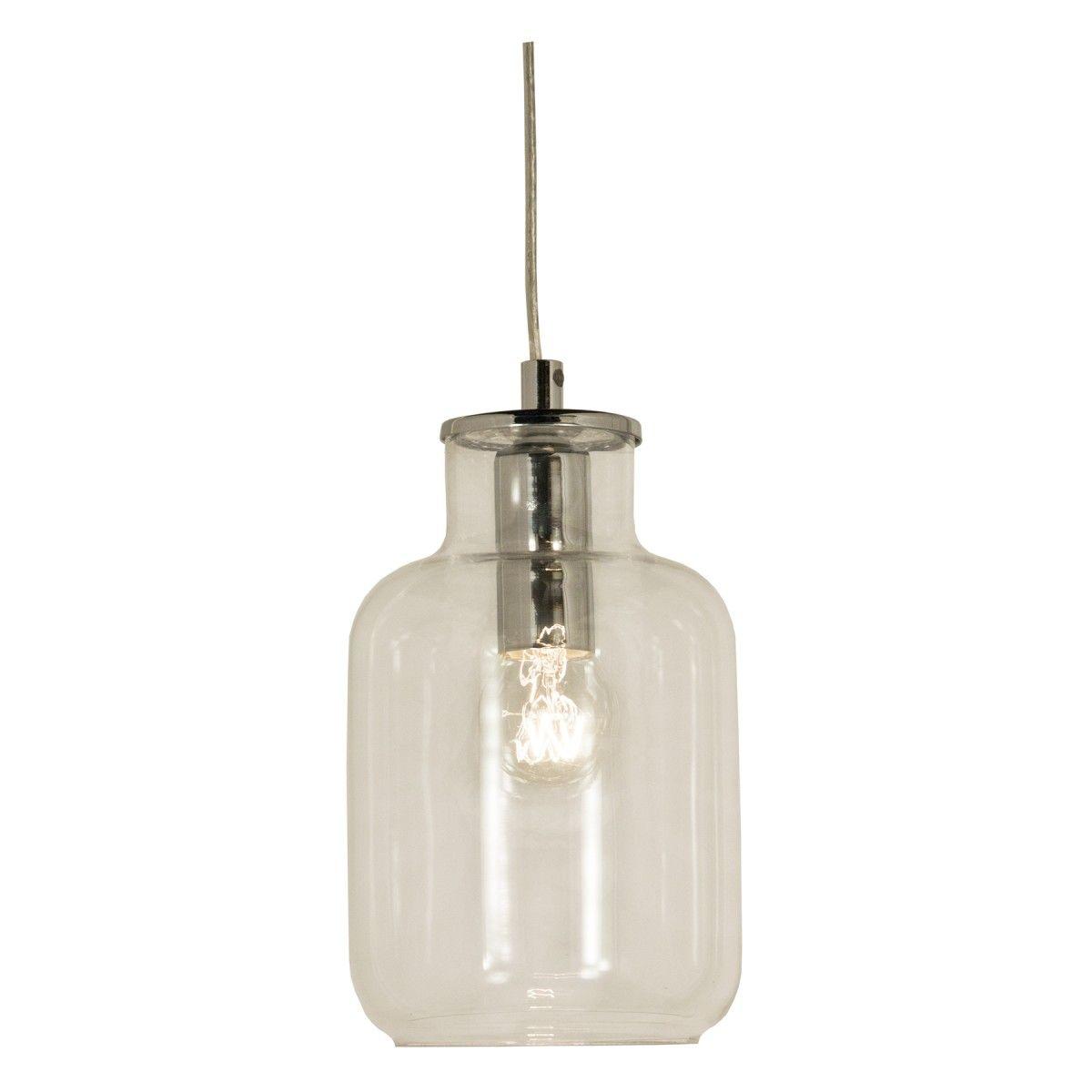 Kompaktin kokoinen, kirkas, lasinen kattovalaisin elegantein kromatuin metalliosin. Hyvä yhdistettäväksi vaikka useampi valaisin yhdessä. Asennusta helpottaa kätevä kattokoukkukiinnitys ja pistoke.