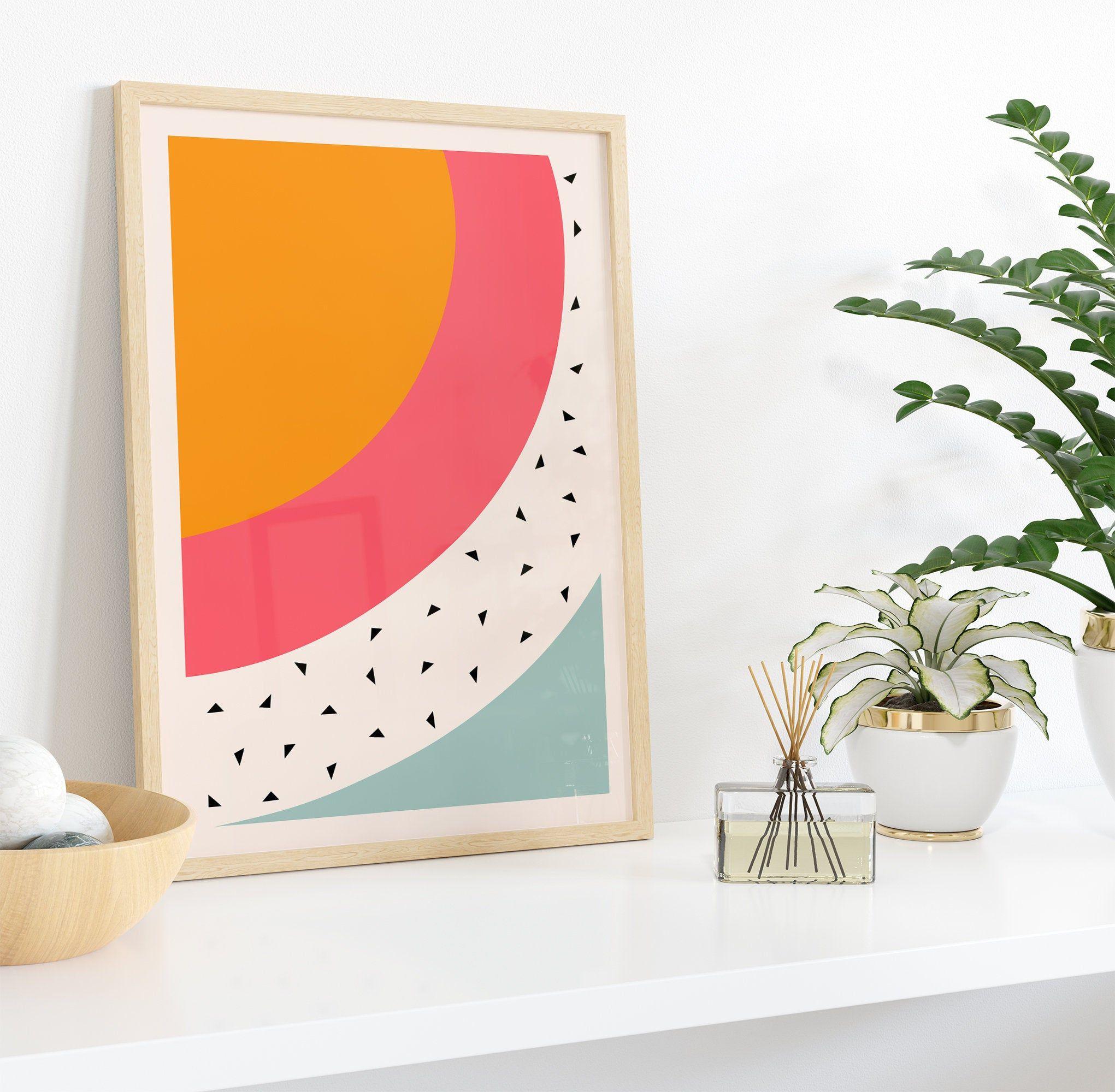 Framed minimalist art print abstract art print neutral