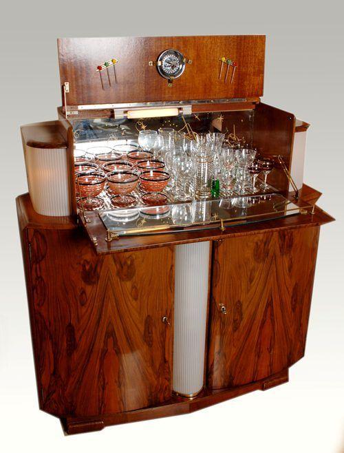 Antiques Atlas Walnut Veneer Cocktail Cabinet Cocktail Cabinet