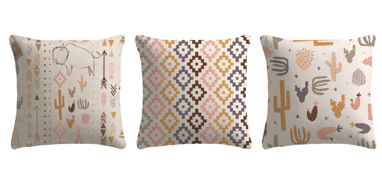 Southwest buffalo set of pillows made to order throw pillow