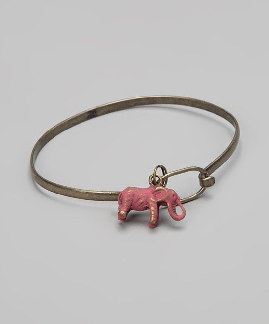 Watermelon Elephant Charm Bracelet--Cute:)