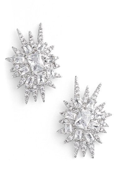 Free shipping and returns on CZ by Kenneth Jay Lane 'Explosion' Cubic Zirconia Stud Earrings at Nordstrom.com. Radiant cubic zirconia stones encrust every corner of jagged, explosion-inspired stud earrings that finish your look with ultra-glamorous edge.