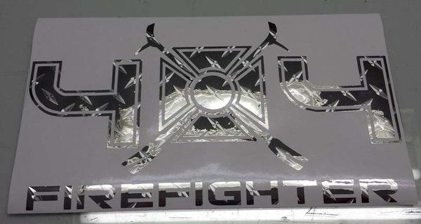 4x4 FIREFIGHTER - Off-Road Die-Cut Decal | Jeep Grill Skins ...