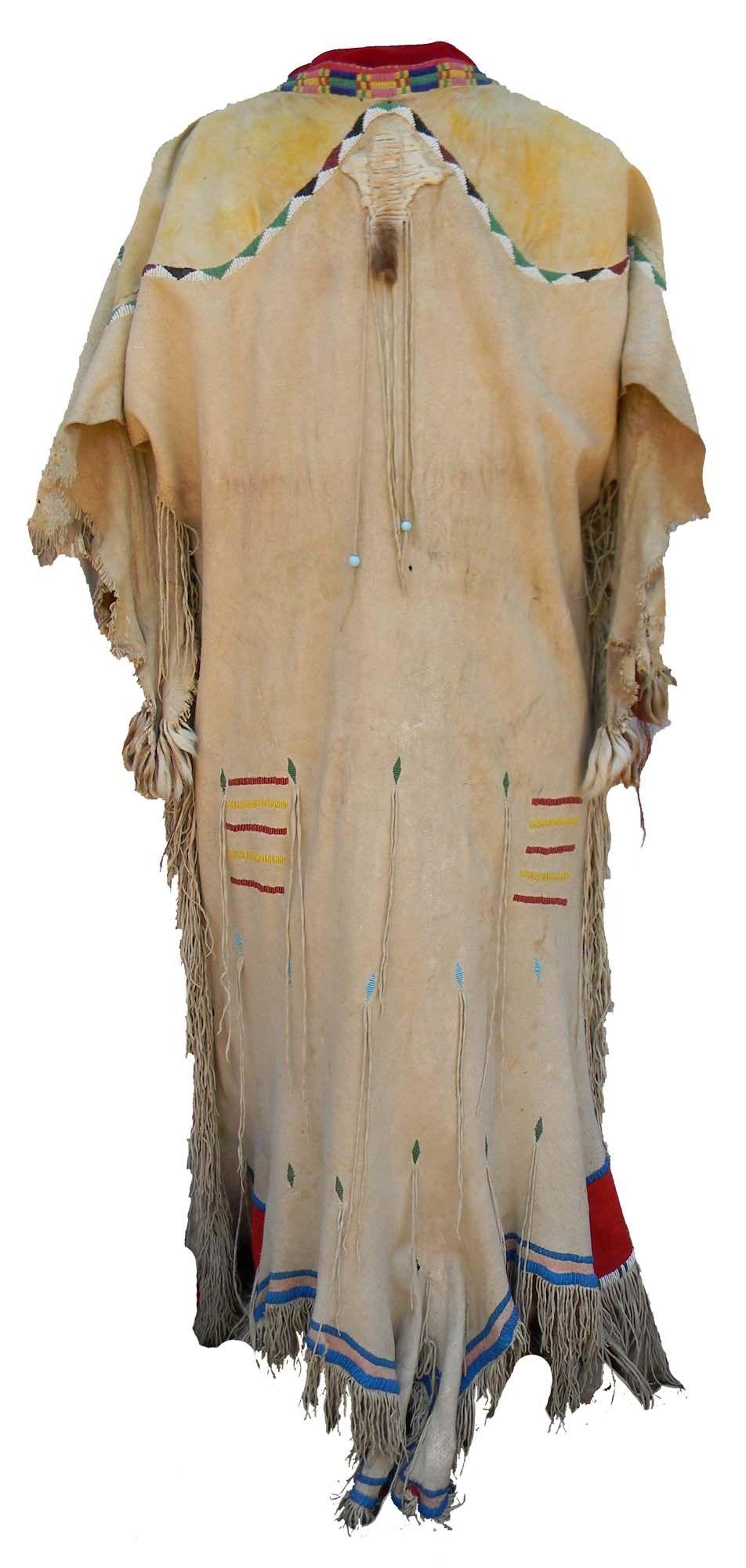 YAKIMA BEADED DEER TAIL DRESS - ca 1875:  Cameron Trading Post