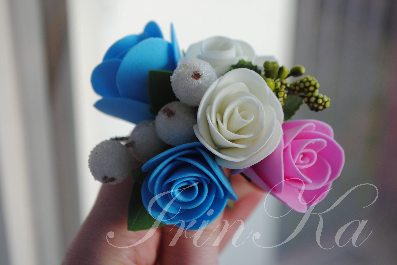 МК маленькой розы из фоамирана. Цветы из фоамирана
