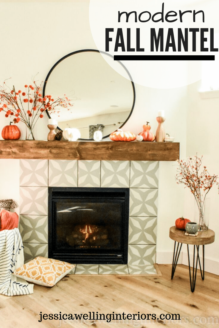 Photo of Modern Fall Mantle Decor