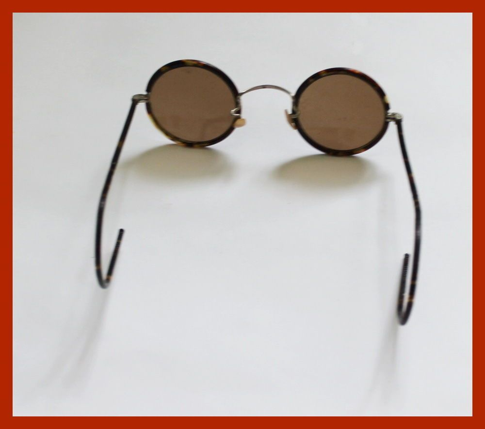 40s New Fashion Retro Bakelite Frame Round Lens Circular Glasses Sunglasses