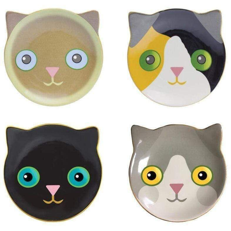 Fine Feline Dessert Plates - Set of 4