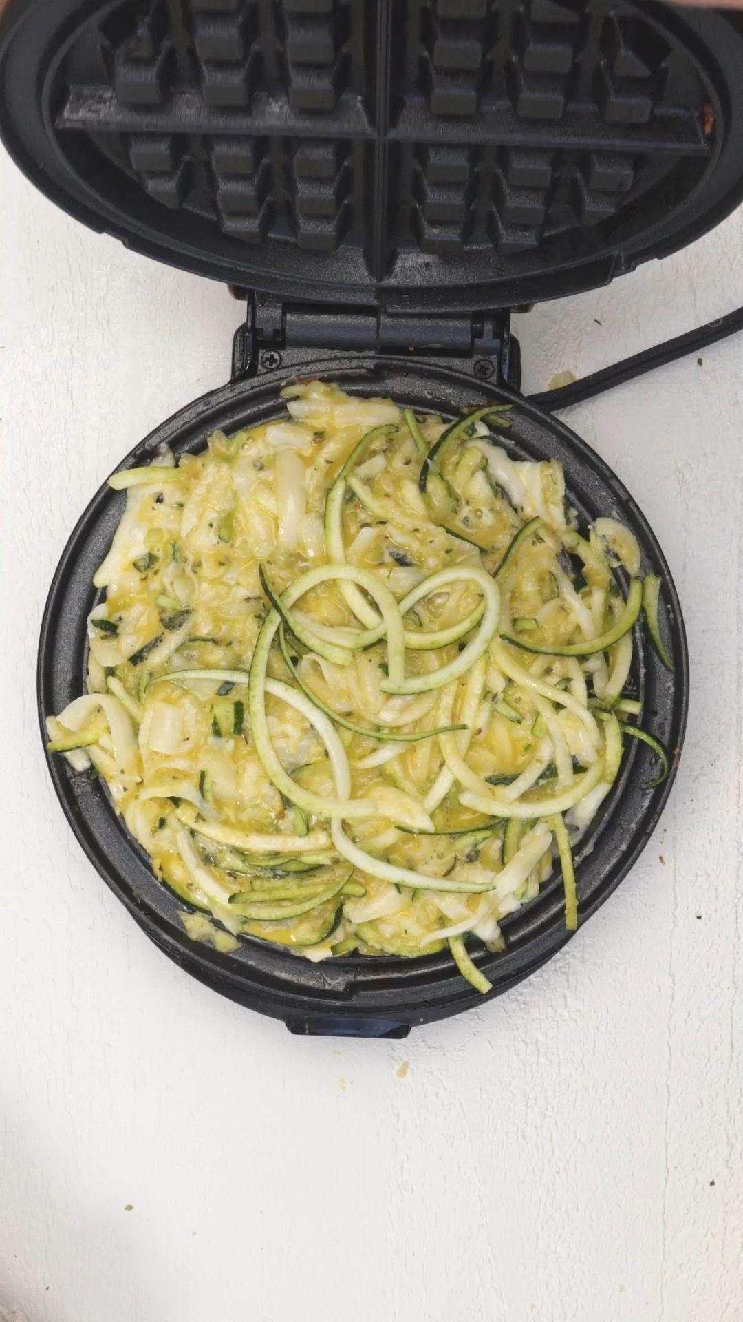 Paleo Spaghetti Waffles (Chaffles)