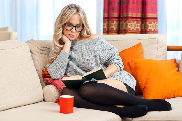 Reading While Wearing Your Husband's Trouser Socks | 28 Women Reading While Sexy