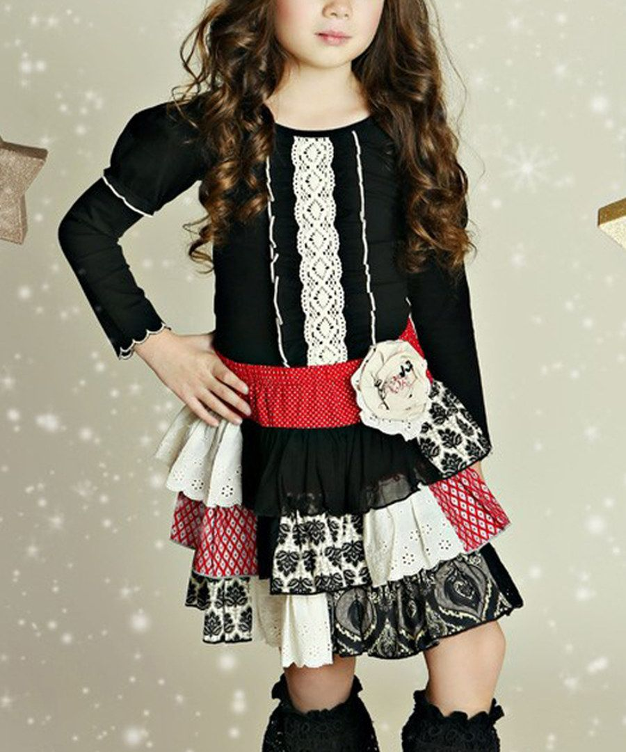 Look at this Mustard Pie Black Serafina Top - Infant & Kids on #zulily today!