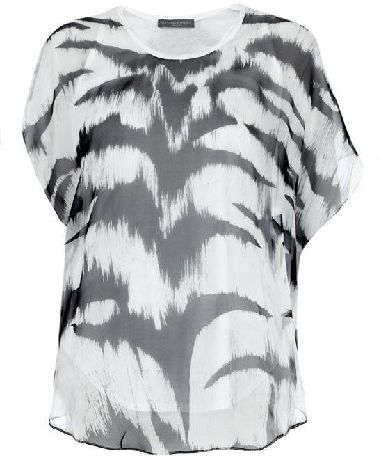 Chiffon Layer Zebra Top, Alexander McQueen