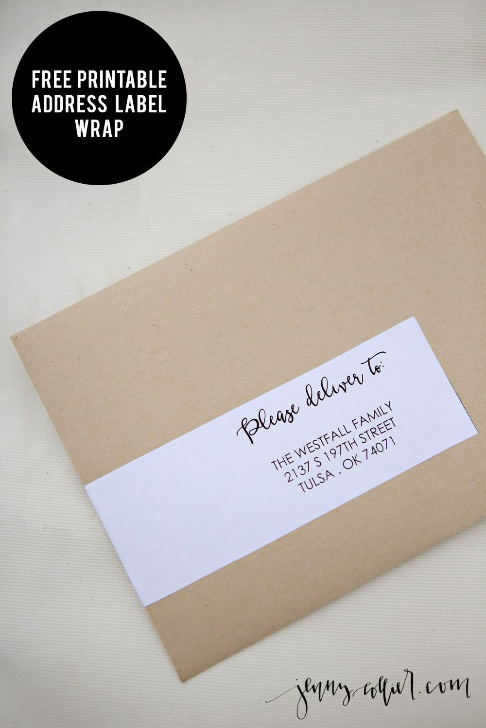 photograph relating to Printable Labels for Wedding Invitations named Deal with Label Wrap Printable Dwelling for the holiday seasons