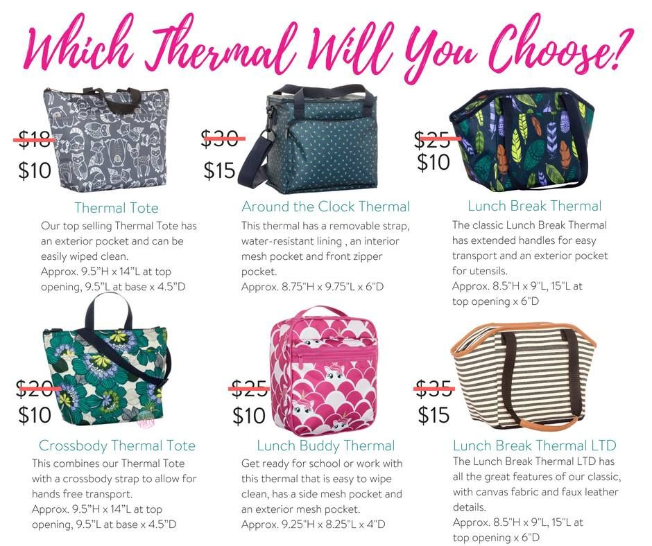 Thirty One Thermal Tote Around The Clock Lunch Break Crossbody Buddy