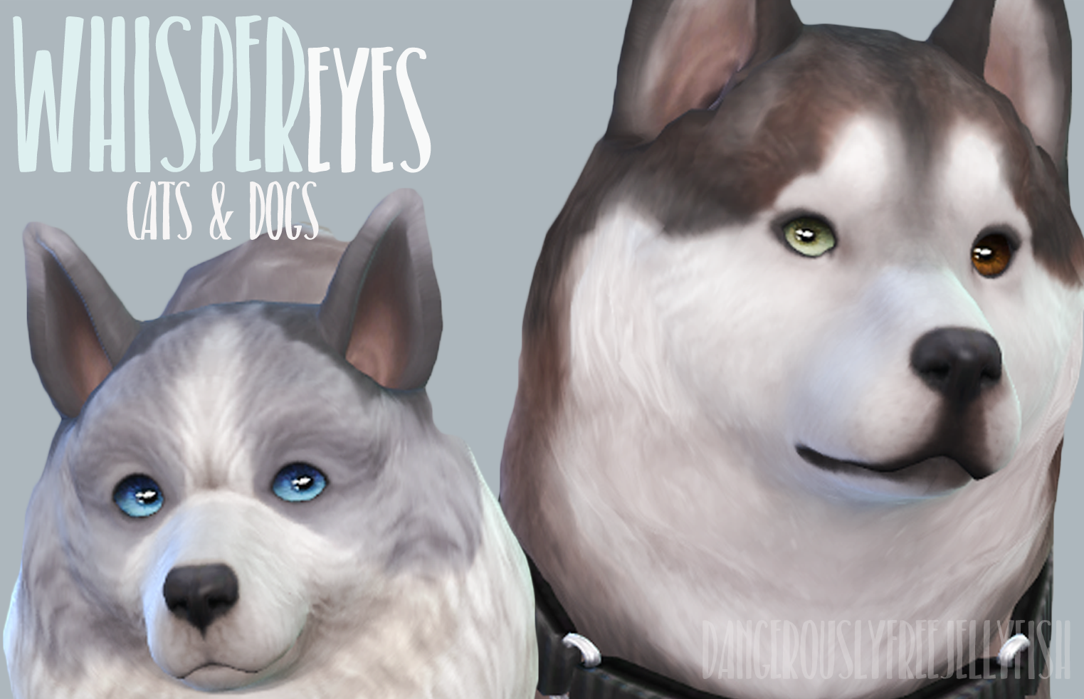 Default Replacement Eyes For Cats Amp Dogs In The Style Of My Whisper Eyes Sims 4 Pets Sims Pets Sims 4