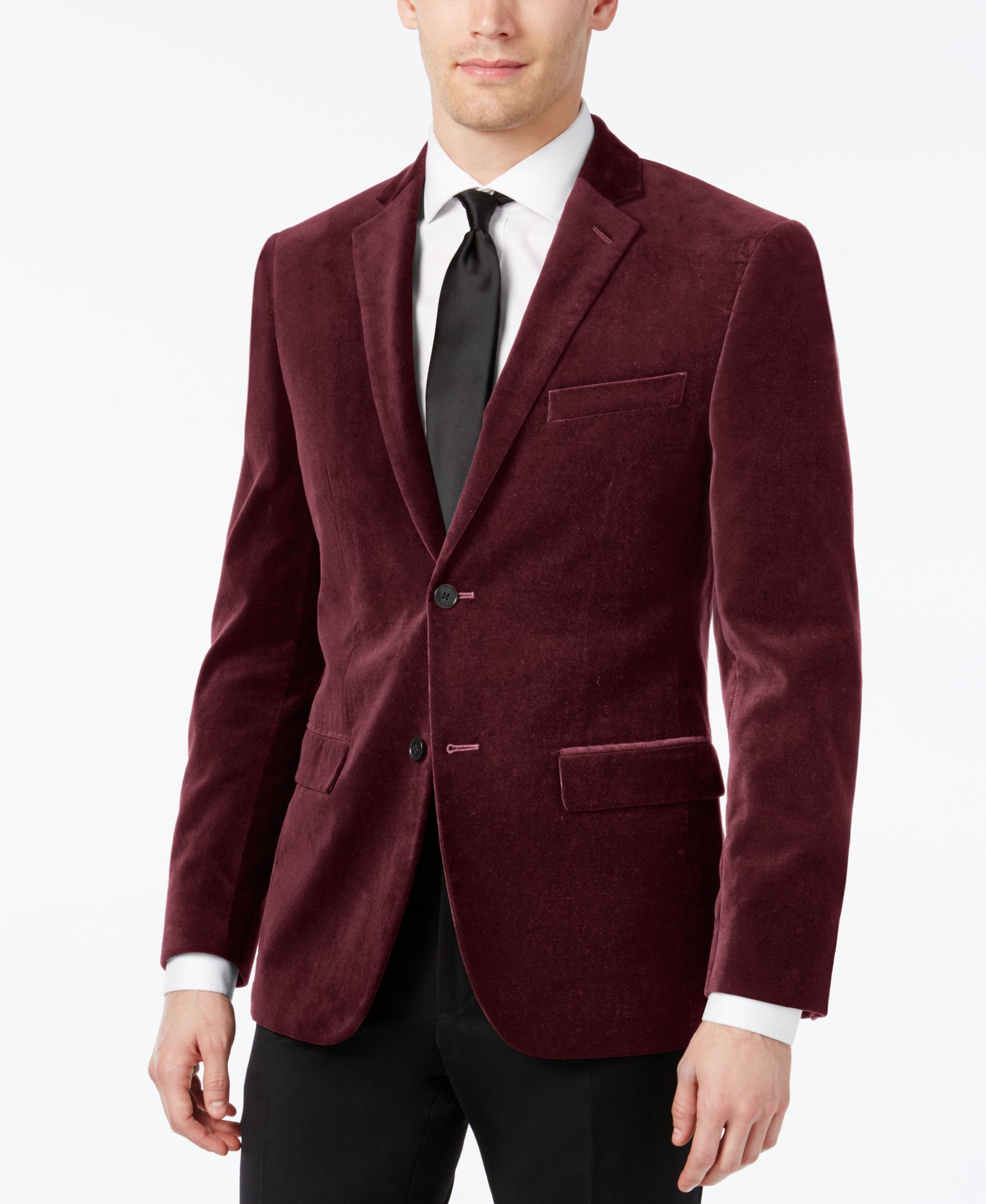 b6292a11953a3 This slim-fit sports coat from Alfani Red will be a staple in your elegant…