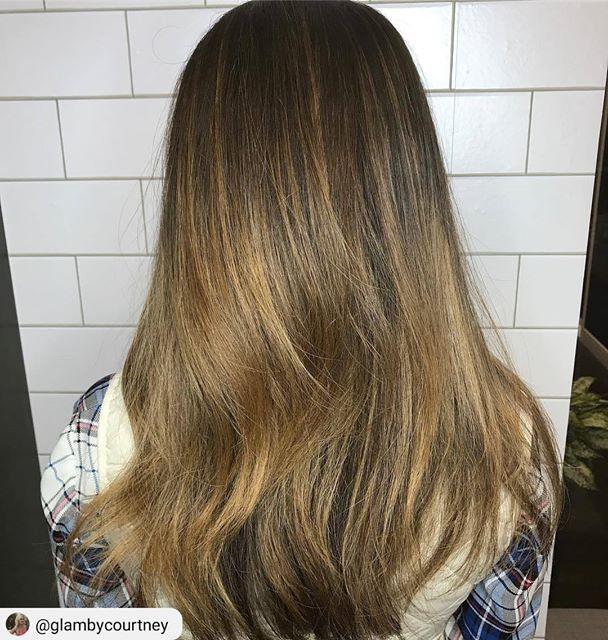 honey and carmel balayage on brunette https://www.blisshairsalon.net ...