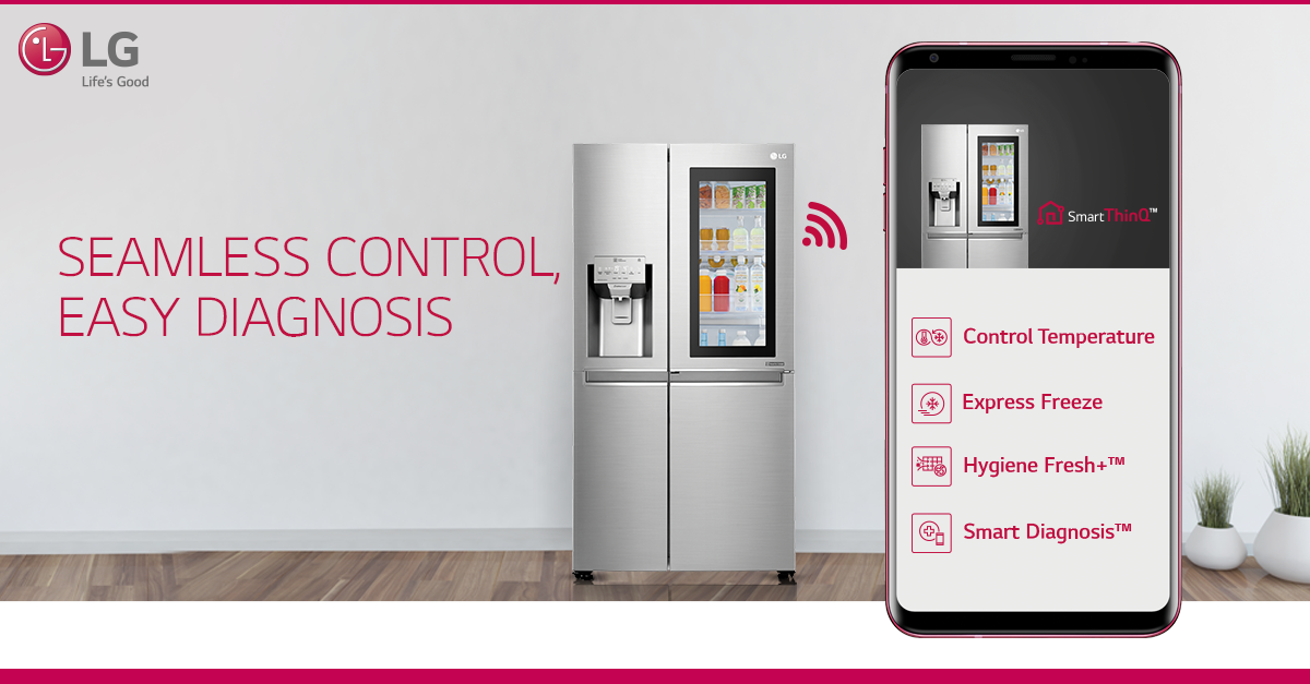 Control Your Lg Side By Side Refrigerator Even When You Re Not At