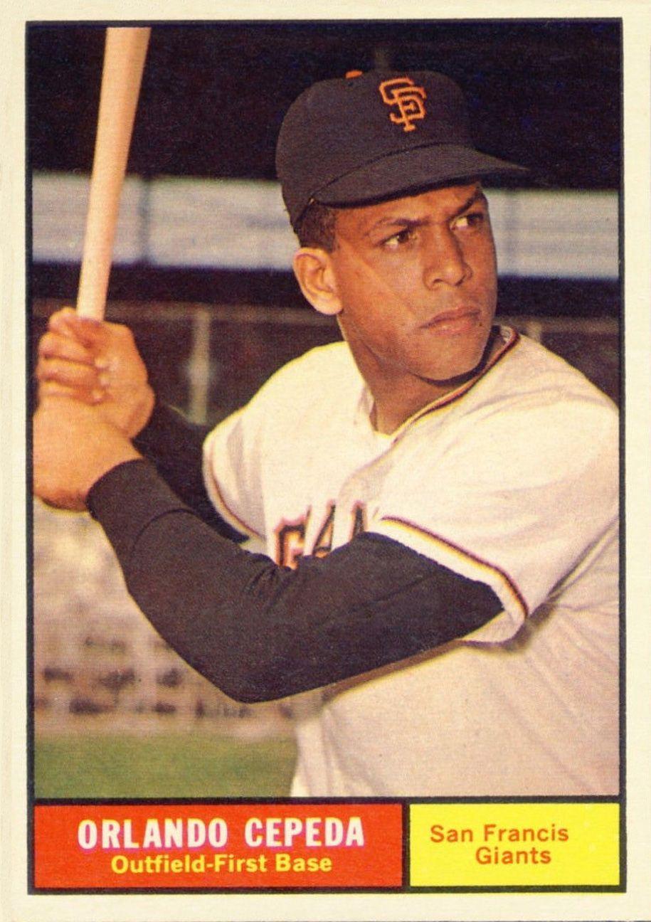 1961 topps orlando cepeda baseball cards baseball card