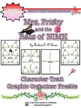 Mrs Frisby And The Rats Of Nimh Character Traits Analysis Freebie