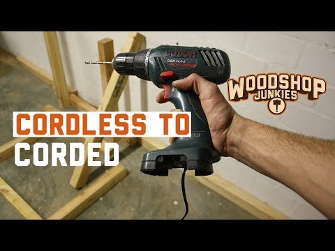 34 Cordless To Corded Drill Conversion Without Torque Loss Youtube Cordless Drill Batteries Drill Corded Drill