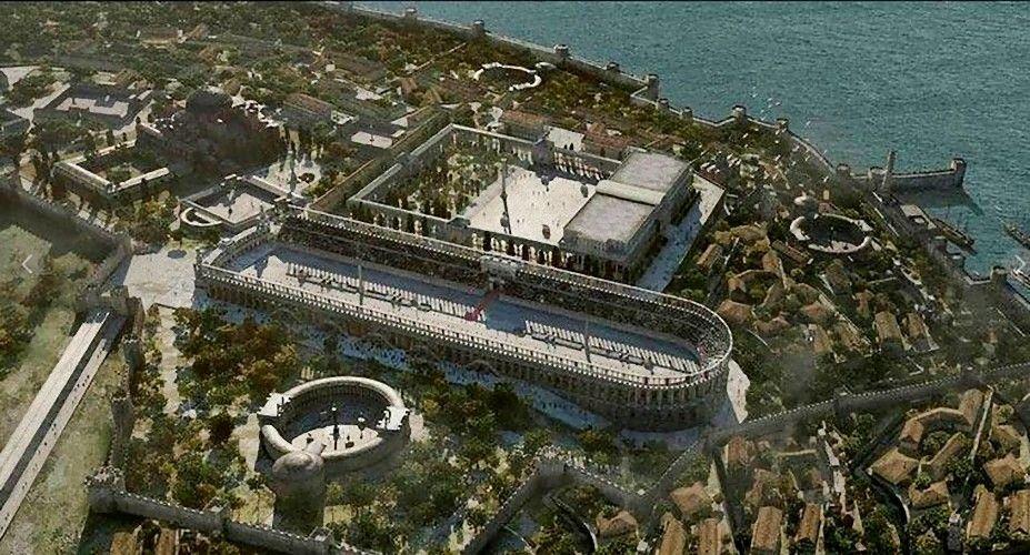 место большой дворец константинополь фото показывает