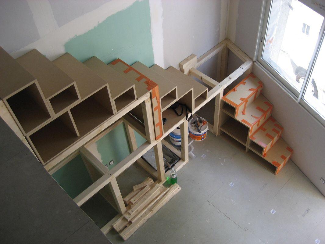 Escalier En Bois Avec Rangement escalier avec rangements pour cuisine - bois - ré - création