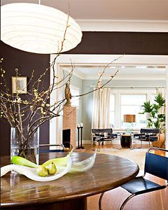 Like the color scheme in my living room. I like he dark walls - the