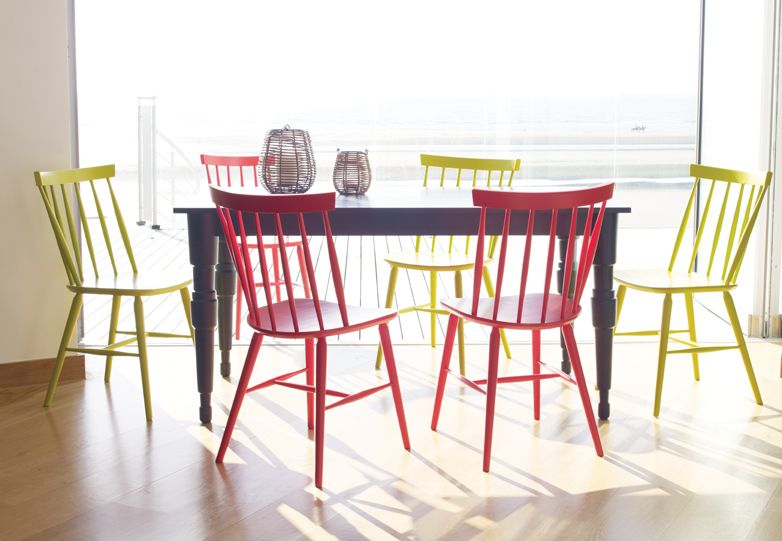 Talia Dining Chairs With Milner Table For A Colourful Dining Room