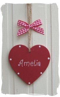 Personalised Wooden Heart Wwwbynickicouk Craft Ideas