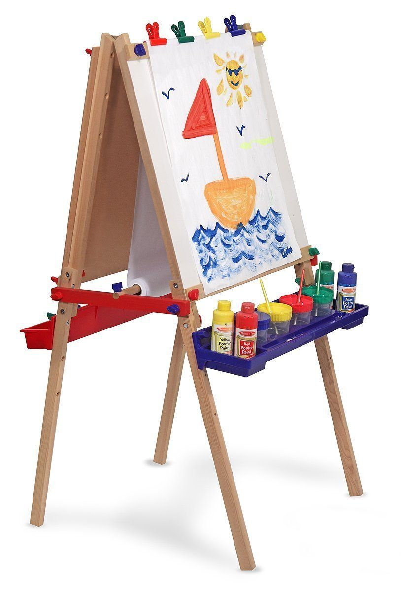 Melissa & Doug Easel Deluxe Wooden Standing Art: Amazon.co.uk: Toys ...