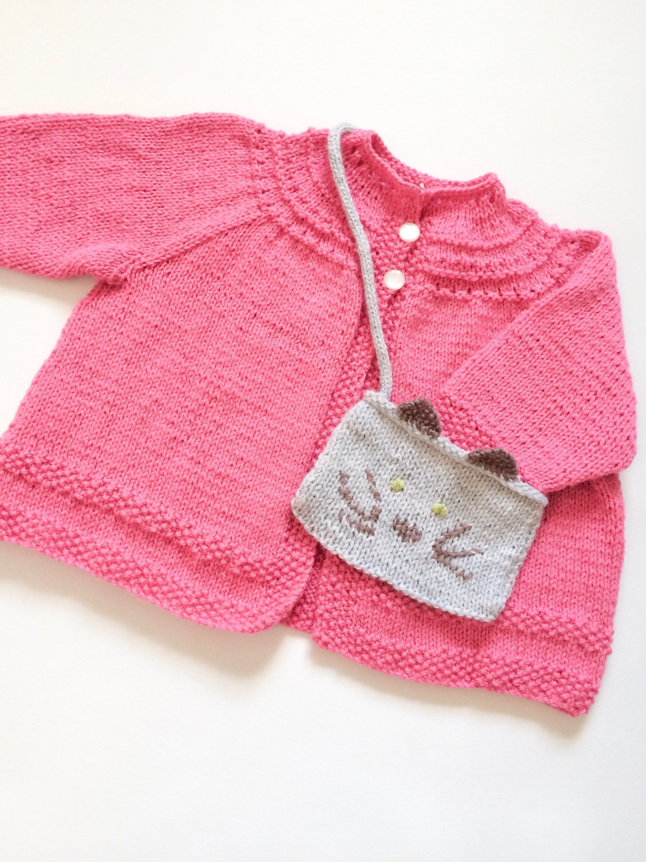 7a0833c5c Pink knitted cardigan