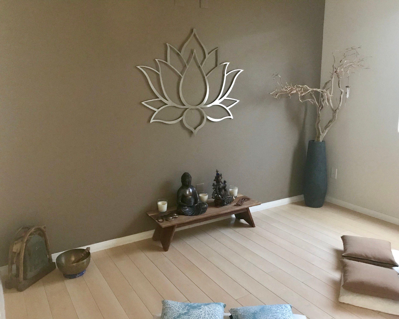 Lotus Flower Large 3d Metal Wall Art Meditation Wall Art Etsy Meditation Room Decor Outdoor Metal Wall Art Buddha Wall Art