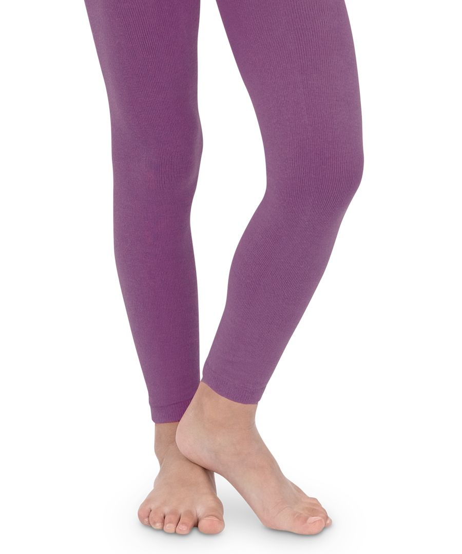 7e7f633be61b6 1546 Pima Cotton Footless Tights ~ Purple | Made in the USA ...