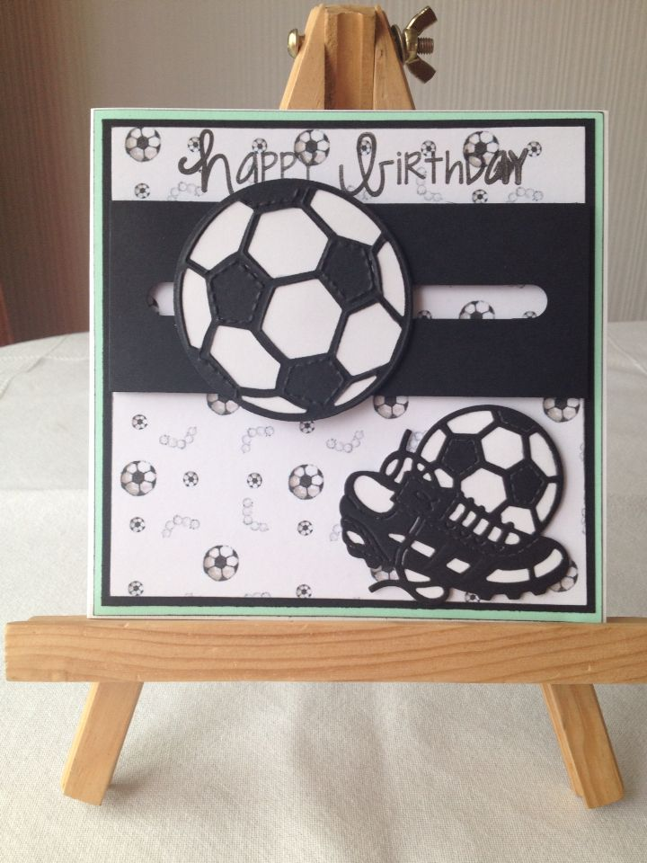 Spinning football card