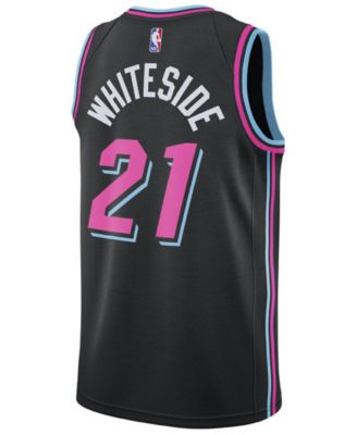 pretty nice 59c37 491f0 Nike Hassan Whiteside Miami Heat City Edition Swingman ...