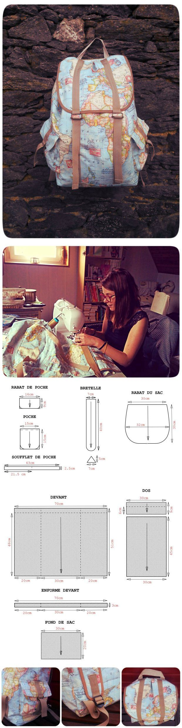 pockets (DIY) / basic patterns / SECOND STREET how to sew a bag ...