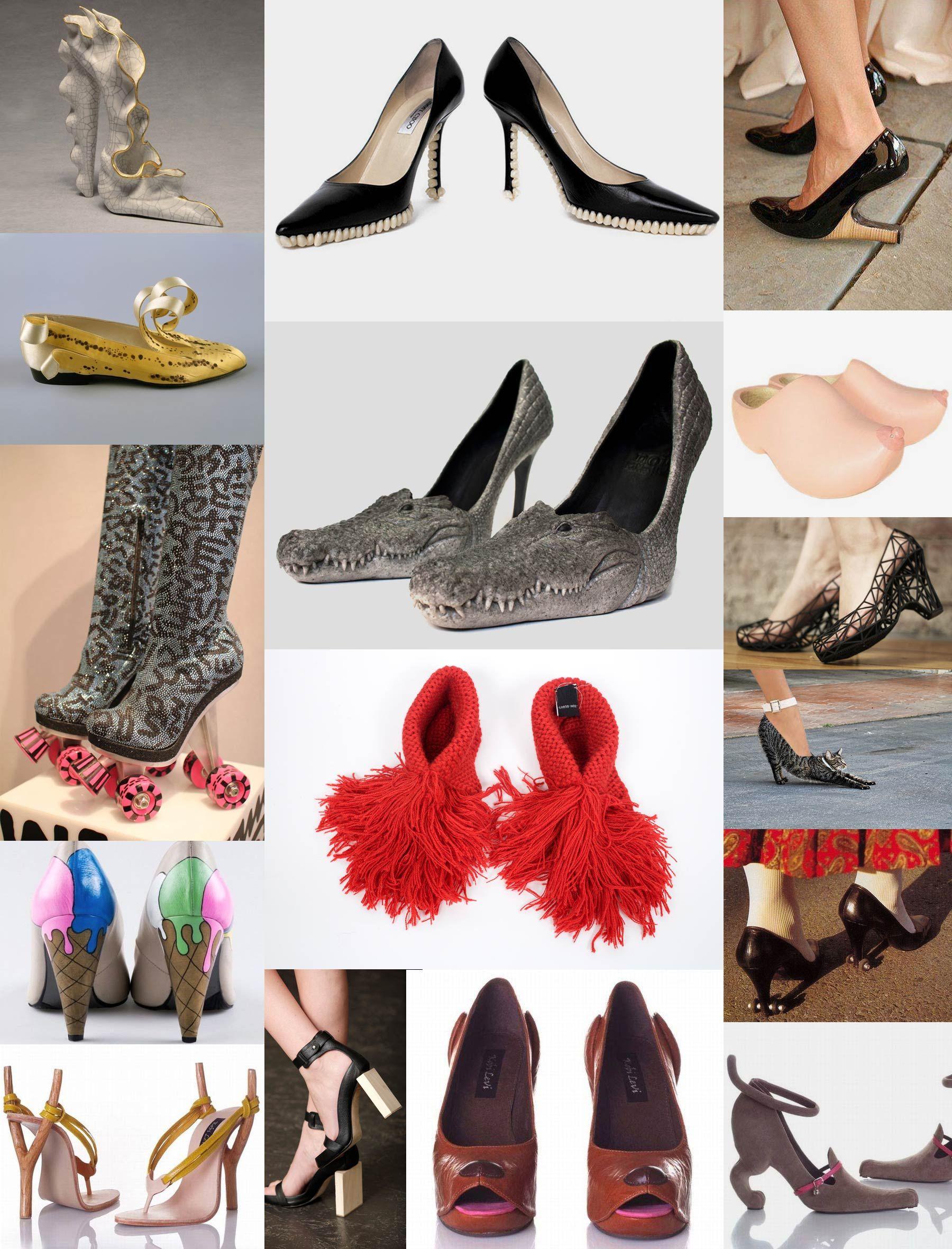 Multiples Fotos De Zapatos Graciosos Feos Raros Horribles