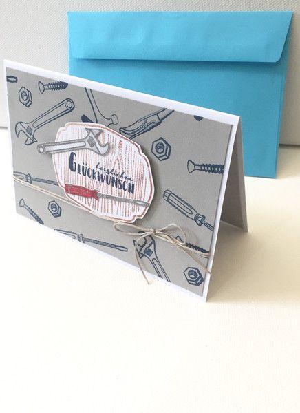 Glückwunschkarten - HANDWERKER Glückwunschkarte - ein Designerstück von POMMPLA bei DaWanda