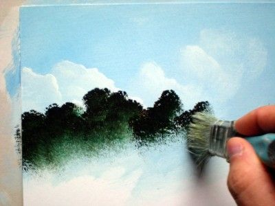 Easy acrylics painting for beginner painting lesson for for Watercolor painting step by step