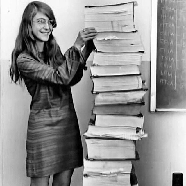 MARGARET HAMILTON lead software engineer of the Apollo Project ...