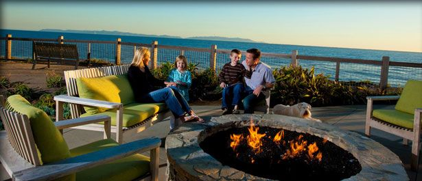 Southern California Luxury Resorts: Family Outside By A Fire Pit #TerraneaTraditions