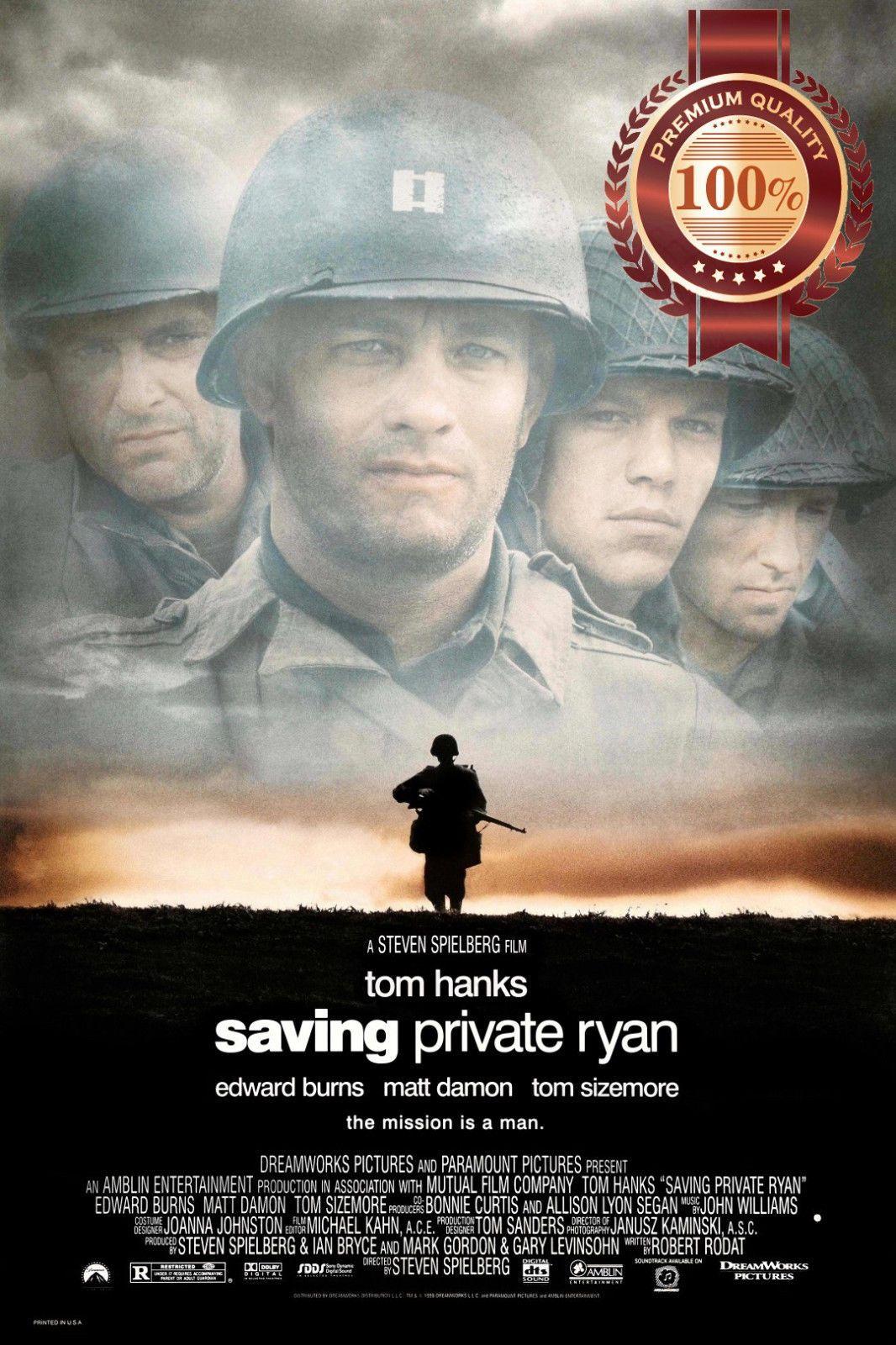 Saving Private Ryan 1998 Tom Hanks Movie Original Photo Print Premium Poster Saving Private Ryan Best Movies To See Matt Damon